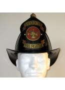 "Traditional ""American Firefighter"" Helmet - Black"