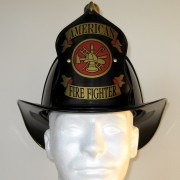 "Traditional ""American Firefighter"" Helmet - Black"